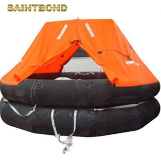 Open reversible throw-overboard safty kit life iso inflatable raft lightweight compact leisure liferaft