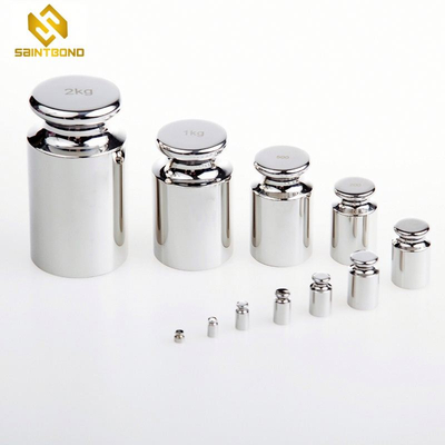 TWS01 2kg standard weights for calibration Weighing equipment steel chrome plated gram balance calibration weight for wholesale