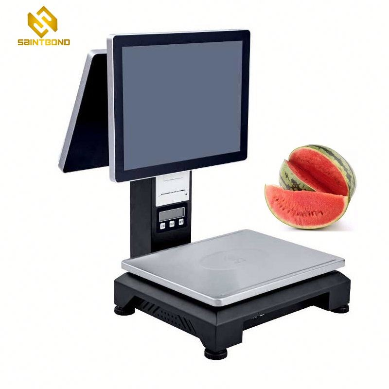 PCC01 with 8 led display P-CAP Touch pos system/pos machine with 8led display