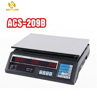 ACS209 30kg 35kg 40kg Digital Supermarket Price Scale, Lcd Led Display Weighing Scale Commercial Scale