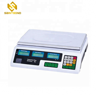 ACS209 Good Quality Commercial Weighing Scales 30kg Supermarket Electronic Price Computing Scale